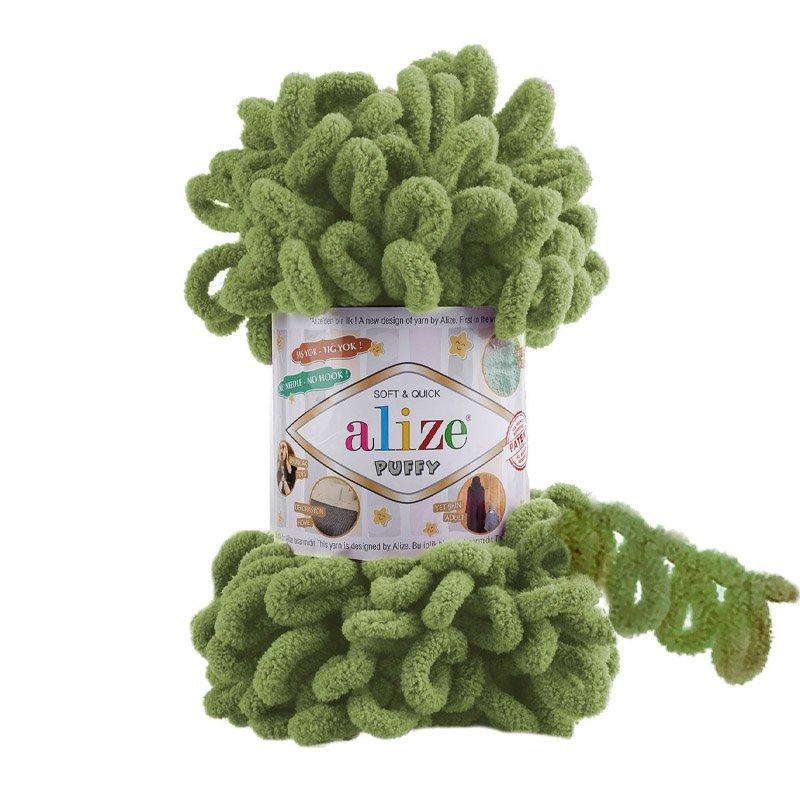 Alize Puffy Yeşil El Örgü İpi 485