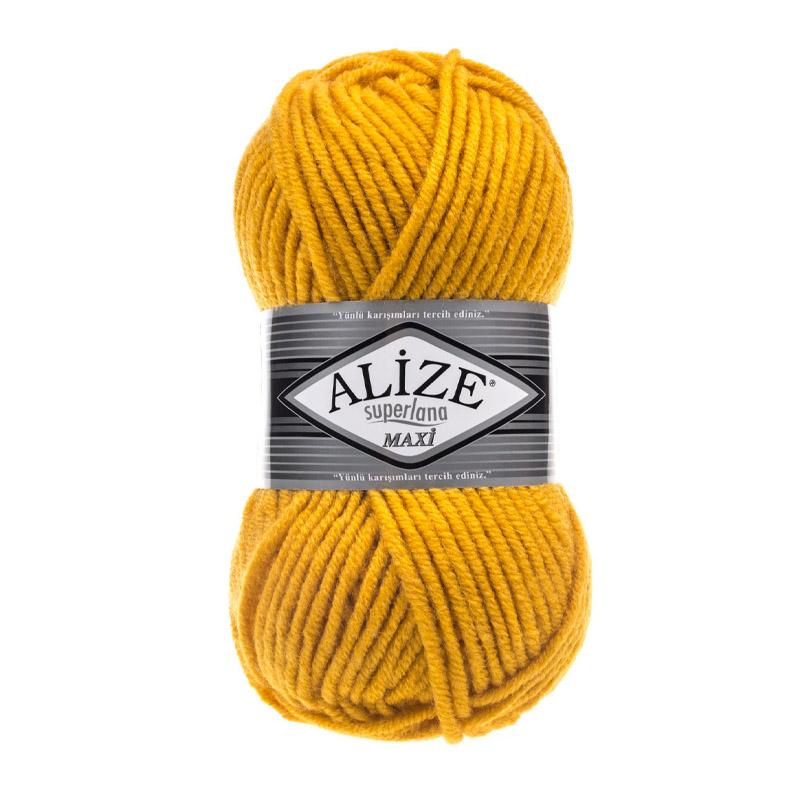 Alize Superlana Maxi Sarı El Örgü İpi 488