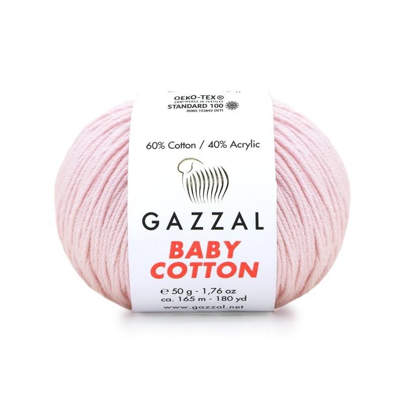 Gazzal Baby Cotton Açık Pembe El Örgü İpi 3411