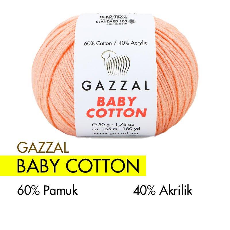 Gazzal Baby Cotton Yavruağzı El Örgü İpi 3412
